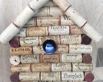 Wine cork bird house indoor/outdoor