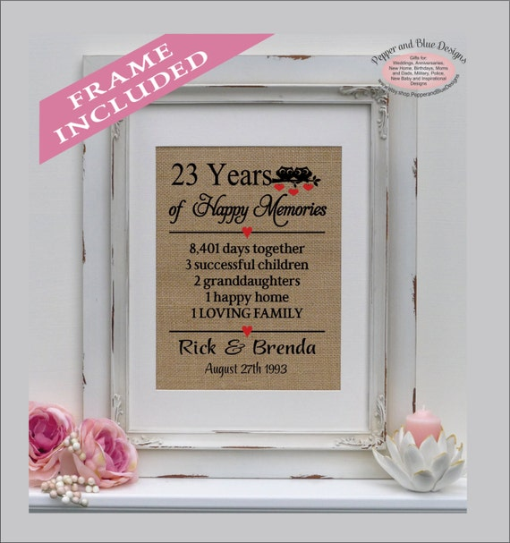 Wedding Gift 23 Years : 23rd wedding anniversary, 23 years married, 23 years together, gift ...