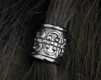Hair bead kit 'Gunmetal Goddess' Bead gunmetal bead Goth Dwarf Celtic steampunk cosplay viking hair viking jewlry TIBETAN ALLOY