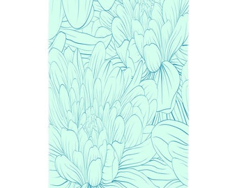 Blue Dahlia Beach Towel