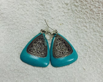 Turquoise earrings, simple everyday, ocean jewelry!