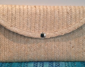Beautifully Hand-Made Straw Clutch