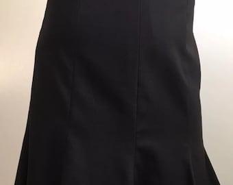 Escada Wool Pencil Skirt Black Sz 34 R