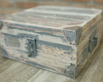 Renovated vintage wooden box