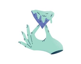 Delicate Queso Hand Fridge Magnet