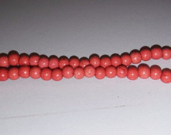 Coral howlite coral beads pink beads orange beads 4mm howlite beads pink howlite beads orange howlite beads 4mm spacer beads