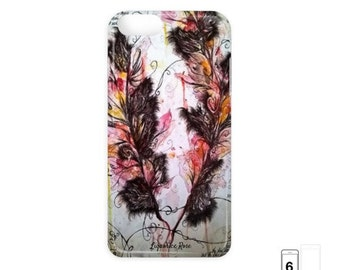 Autumn feather leaves, iPhone / Samsung Galaxy hard cases