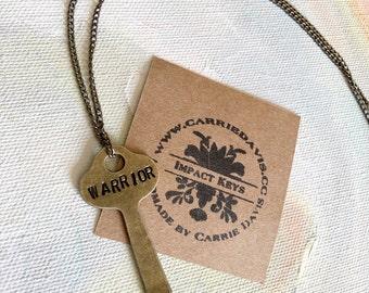 Brass Skeleton Key Necklace