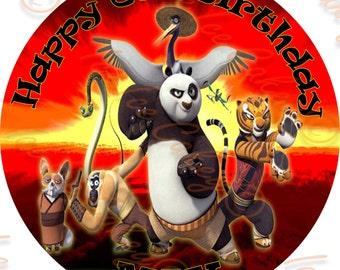 Kung Fu Panda - Option 2, 8 Inch Round Topper