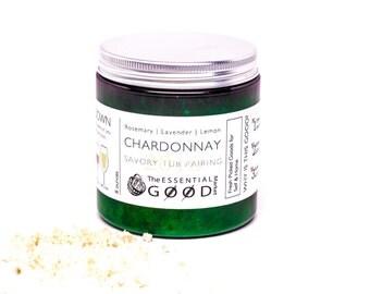 Bath Salts | Chardonnay | Bath Soak, Sea Salt, Wine