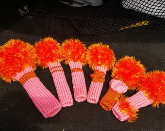 Ladies Knitted Golf Head Covers