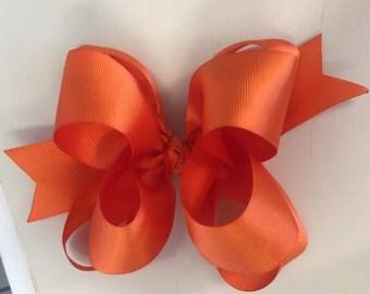 Orange Double Boutique Bow