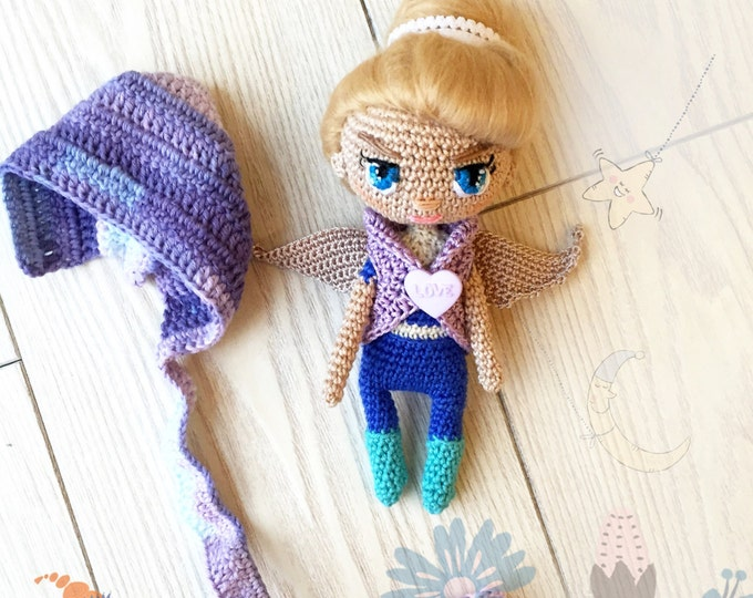Amigurumi crochet doll- crochet doll-amigurumi doll