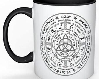 Wiccan wheel  Mug