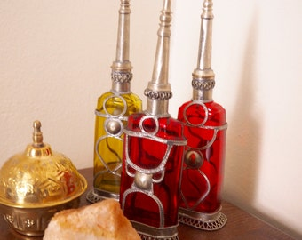 free shipping 3 authentique Moroccan  Perfume Bottle