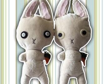 Plush handcrafted | Mr. Rabbit | Snowman | Gift idea