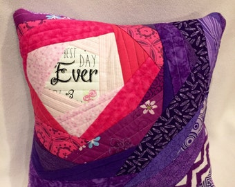 Best Day Ever Custom Quilted Pillow
