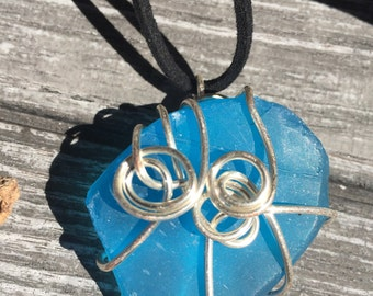 Wire wrapped seaglass!! Take a little peace of the sea with you!!!