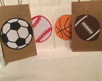 Sports theme favor bags,basketball  favor bags,football favor bags,soccer favor bags,baseball favor bags,sports party, sports theme party