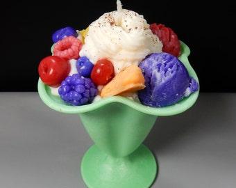 Ice cream sundae Candle