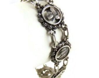 CA. 1950/60 Egyptian 800 silver coin bracelet