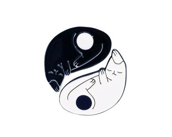 Yin Yang Cats — Enamel Pin Set of 2