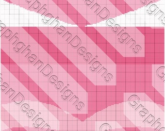 Sleeping Beauty Dress Graphghan Pattern - Graph Pattern