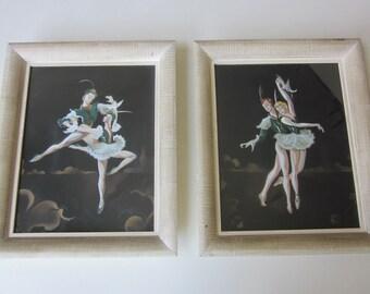 A Pair of Vintage Fleck Ballet Prnts