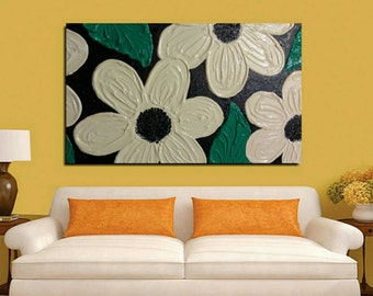 Textured flower painting