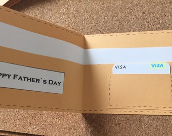 Wallet fathers day or birthday card