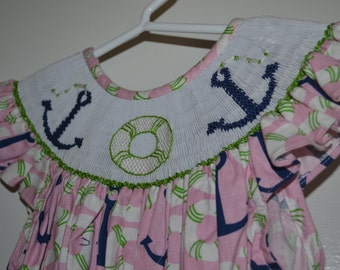 Sailor Girl Dress/Smock size 2T