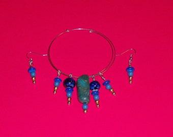Bracelet earring combination, bracelet earring set