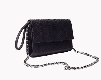 A.TERRERI python skin handbag