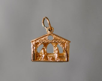 Vintage 14k Gold Nativity Scene Charm/Pendant