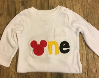 Mickey Mouse 1st Birthday shirt!