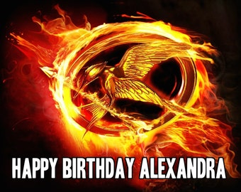 HUNGER GAMES Katniss 1/4 Edible Frosting Icing Sheet Cake Topper Customized Personalized Birthday Party Custom Decoration