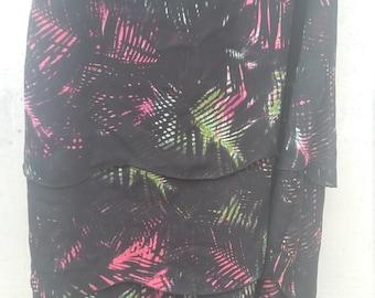 Handmade Layered Multicolored Skirt