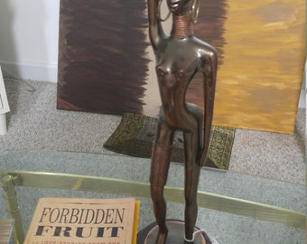 Antique Statue of African Woman