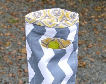 Wine tote fabric wine carrier tote bag wine holiday gift hostess gift set