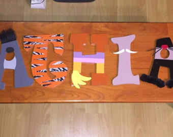 JUNGLE BOOK Hand-painted Wooden Letters for Kids Room