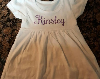 Cute Little Baby Girl Dress PERSONALIZED
