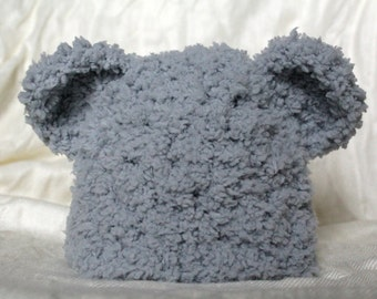 Cozy Crocheted Baby Bear Hat