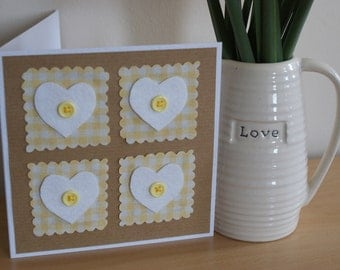 Cute heart and button cards