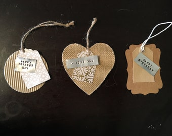 Shabby chic gift tags