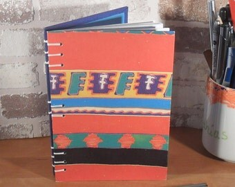 Notebook A6 ethno red blue / / journal / / gift / / entries