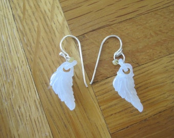 Jade Leaf Feather Earrings