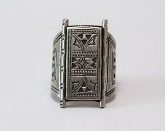 Silver Ring Tribal Gypsy Etnic Bohemian Vodoo Touareg