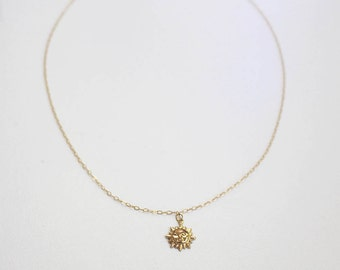 Gold Sun Necklace-Gold Filled- Minimal