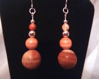 Red Malachite Dangle Earrings