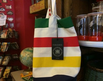 Hudson Bay Striped Tote Bag